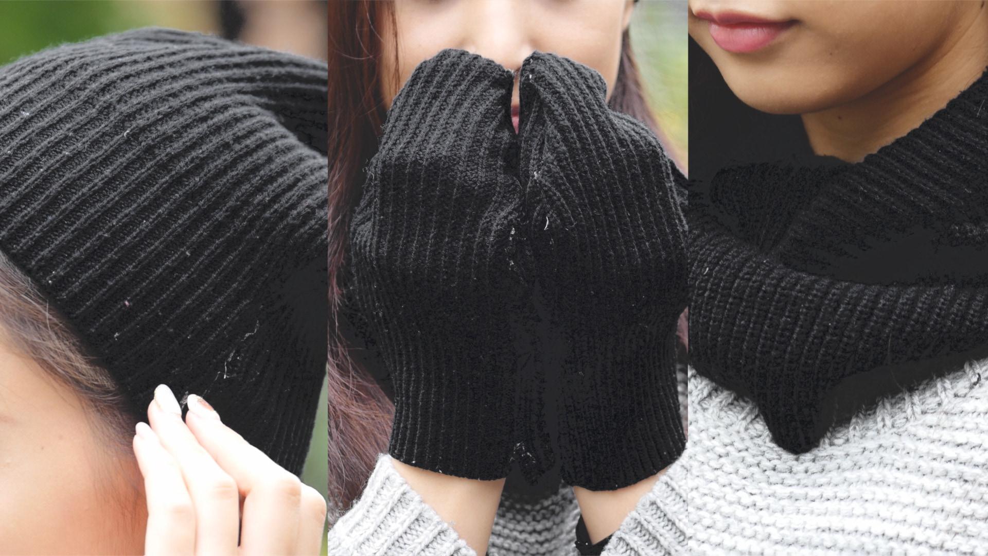 【DIY】セーターを丸ごと使って3つのアイテムにDIY!