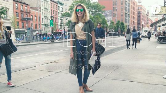 刺繍入りコートを合わせたミリタリースタイル! In New York