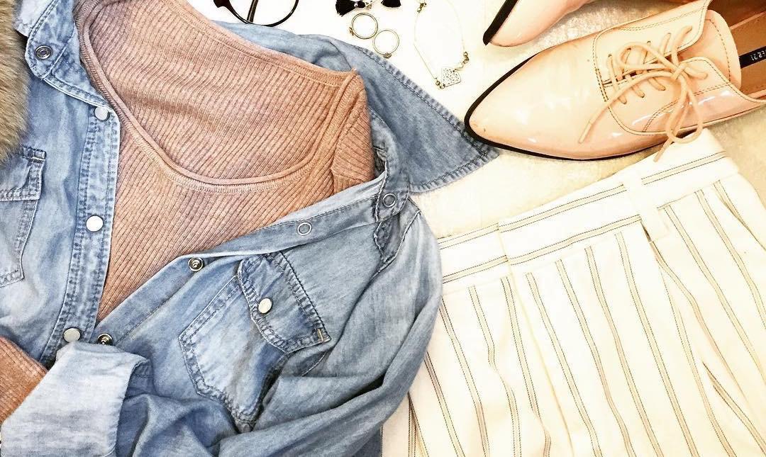 ダンガリーシャツはこんなに使える!大人感あふれるカジュアルスタイル集