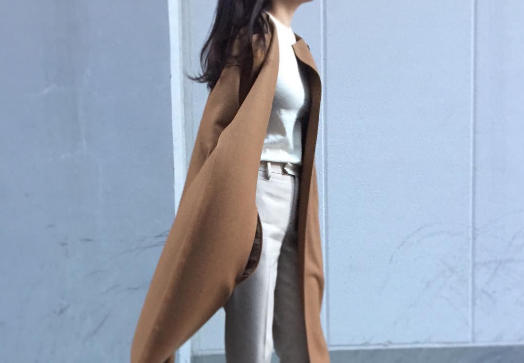 今年らしいシルエットに最適。スッキリ見せたいロングコートの着まわしアイデアコーデ