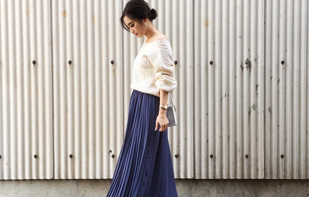 エレガントに決めるならマキシスカートが鉄板。春の楽ちん大人女子コーデ