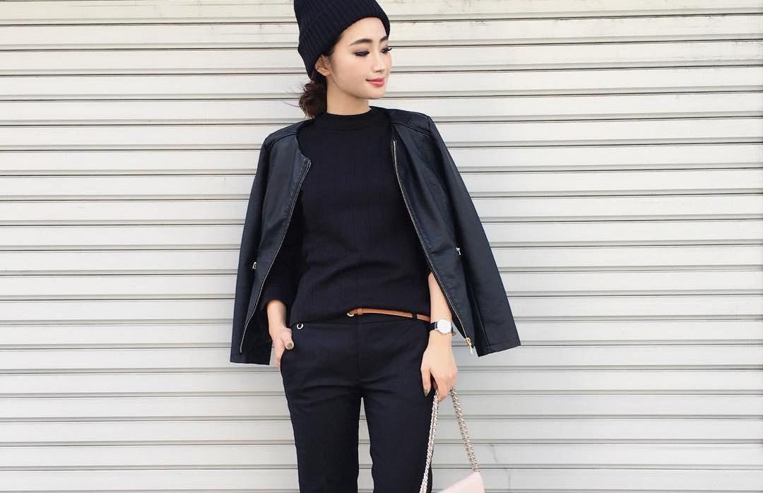 フォーマルからご近所スタイルまで。黒ジャケット一着で七変化