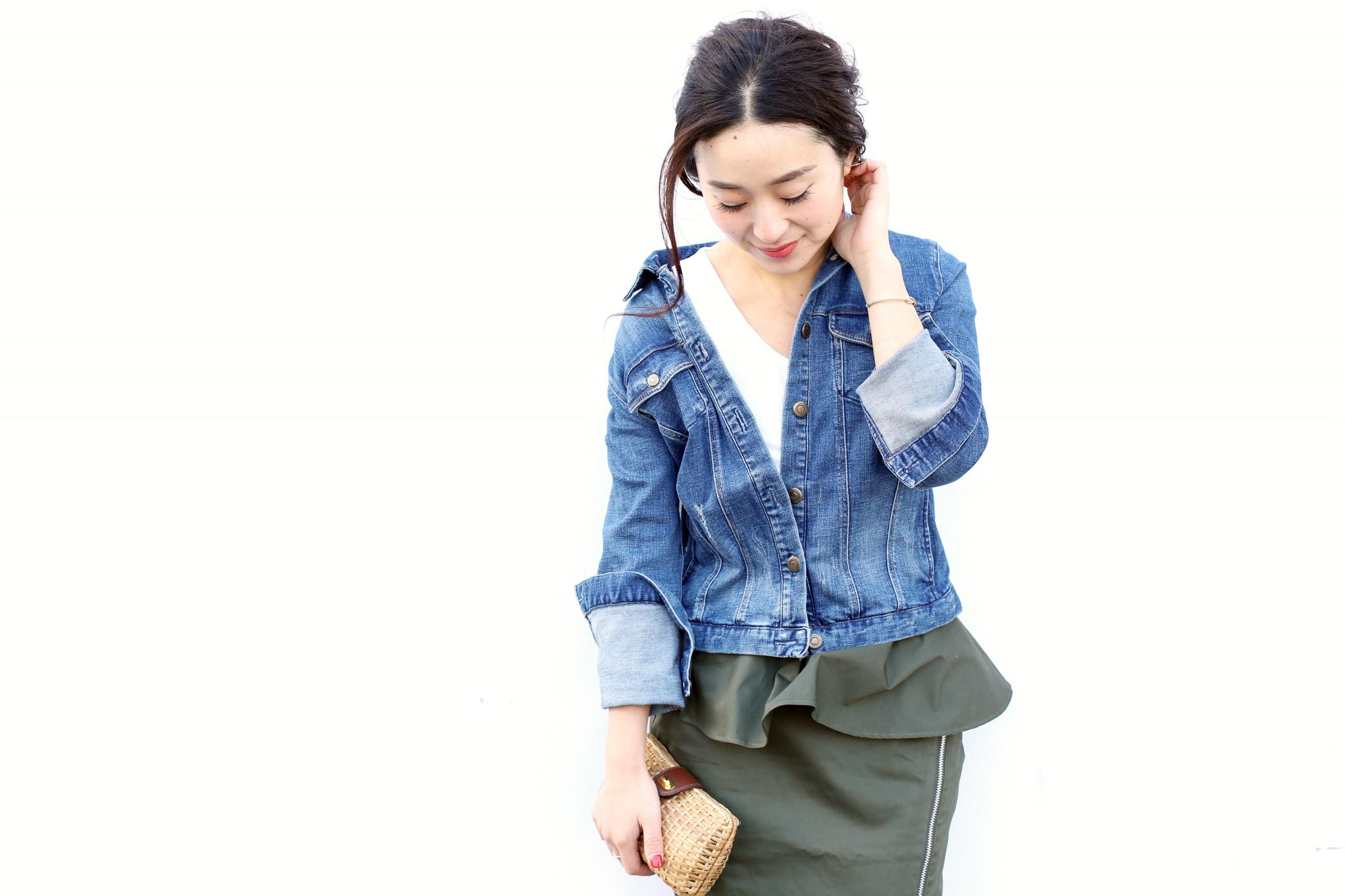 今春はデニムジャケットを女性らしく着こなしたい/長屋なぎささんの7days coordinate ♯Day3