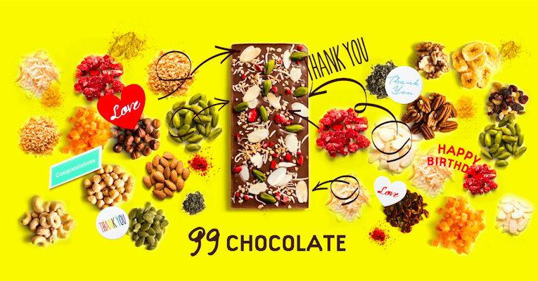 【1月20日まで】1億通りのカスタマイズチョコ『99chocolate』POPUPストアがオープン