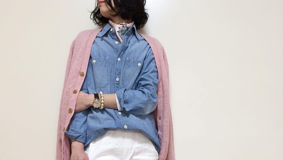 シャンブレーシャツで自分だけのおしゃれを目指す。デニムシャツとは一味違ったファッション