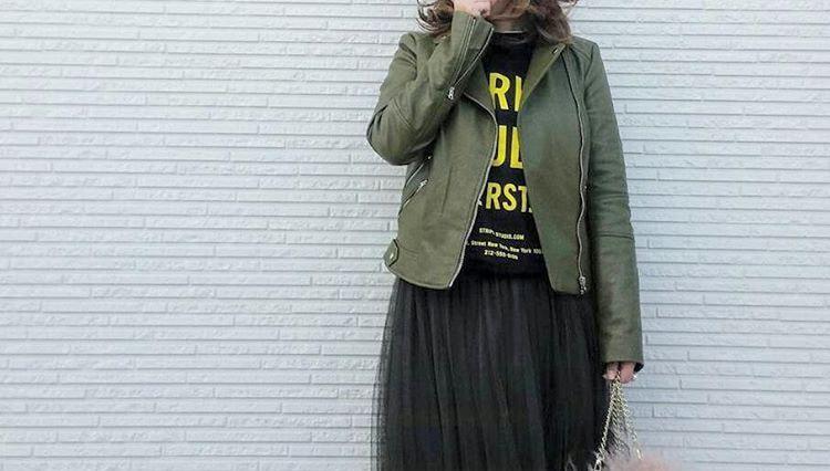 春コーデはボリューム感がポイント!チュールスカートでラブリーファッションを極める