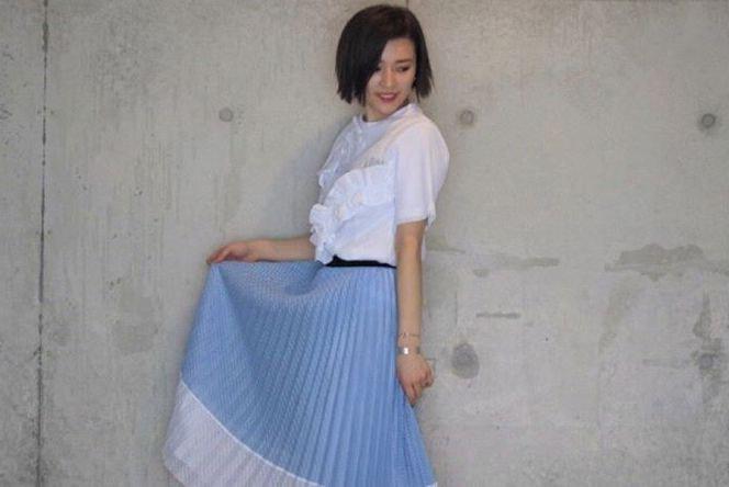 シフォンスカートで楽しむ大人女子の春。絶妙な甘さのきれいめカジュアルを楽しむ