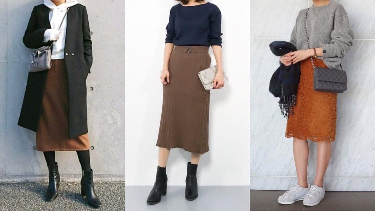 「茶色のタイトスカート」コーデ集【17選】