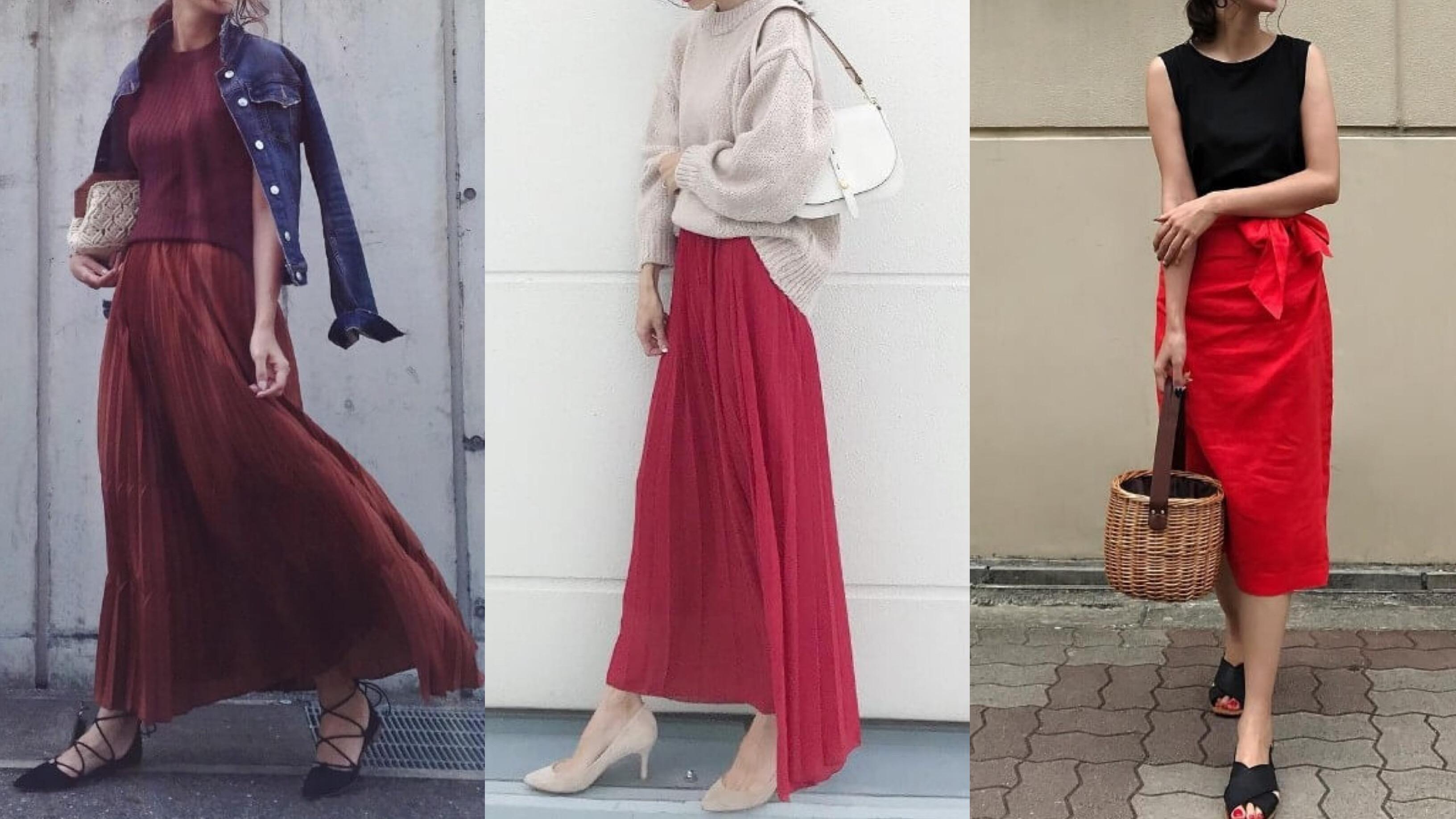 69641c8866a00 赤いスカートコーデを徹底レクチャー!合わせる色別24選|MINE(マイン)