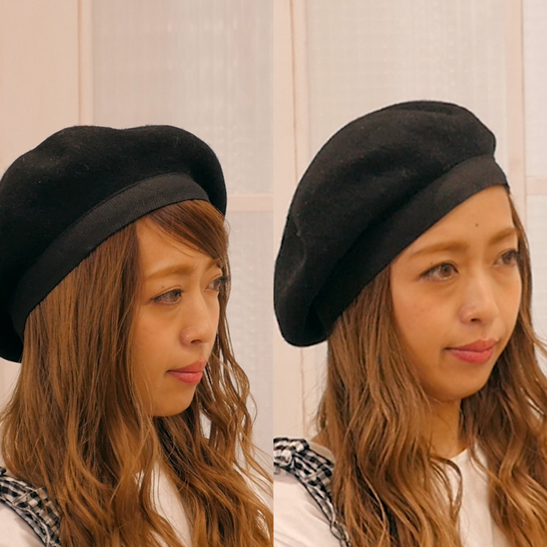 【ヘアアレンジ】5分でできるアレンジ〜ベレー帽に合う前髪の流し方〜