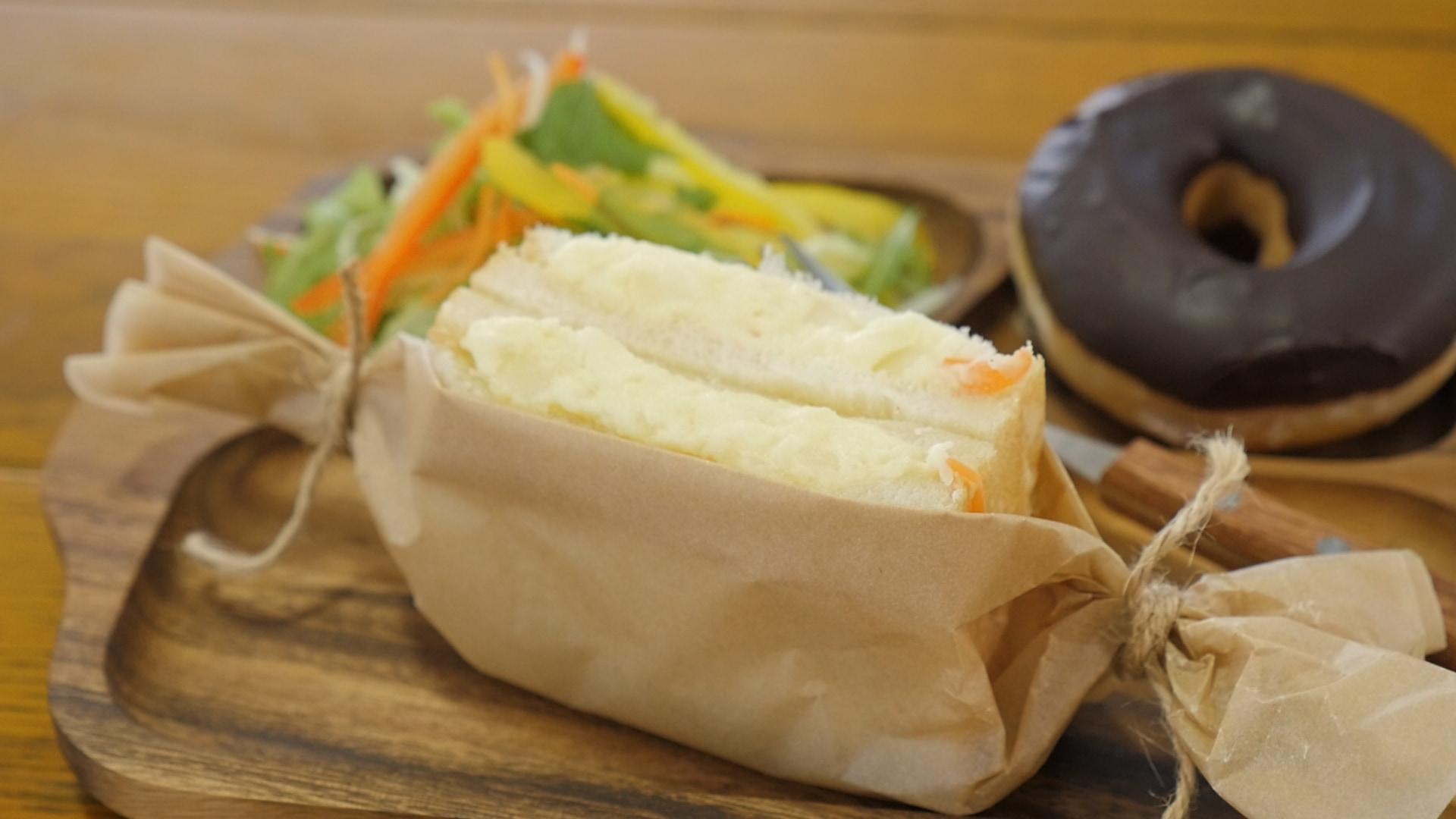 カフェ風サンドイッチのオシャレな包み方2選