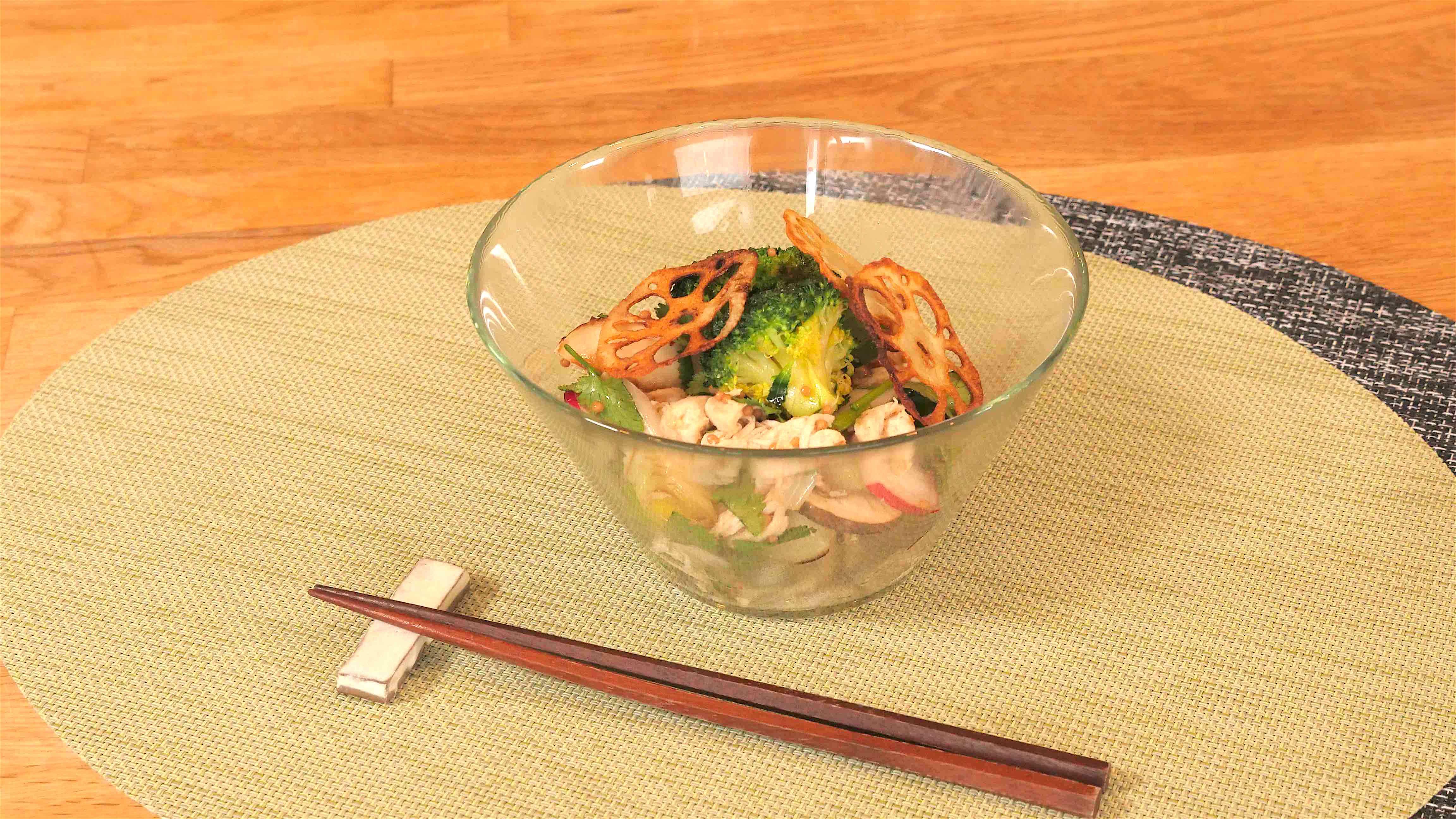 たんぱく質たっぷりの、ロカボな温サラダ【低糖質レシピ】
