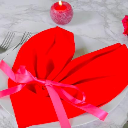 【DIY】もうすぐバレンタイン♡テーブルナプキンで彼をおもてなし【Vol.2 ハート編】