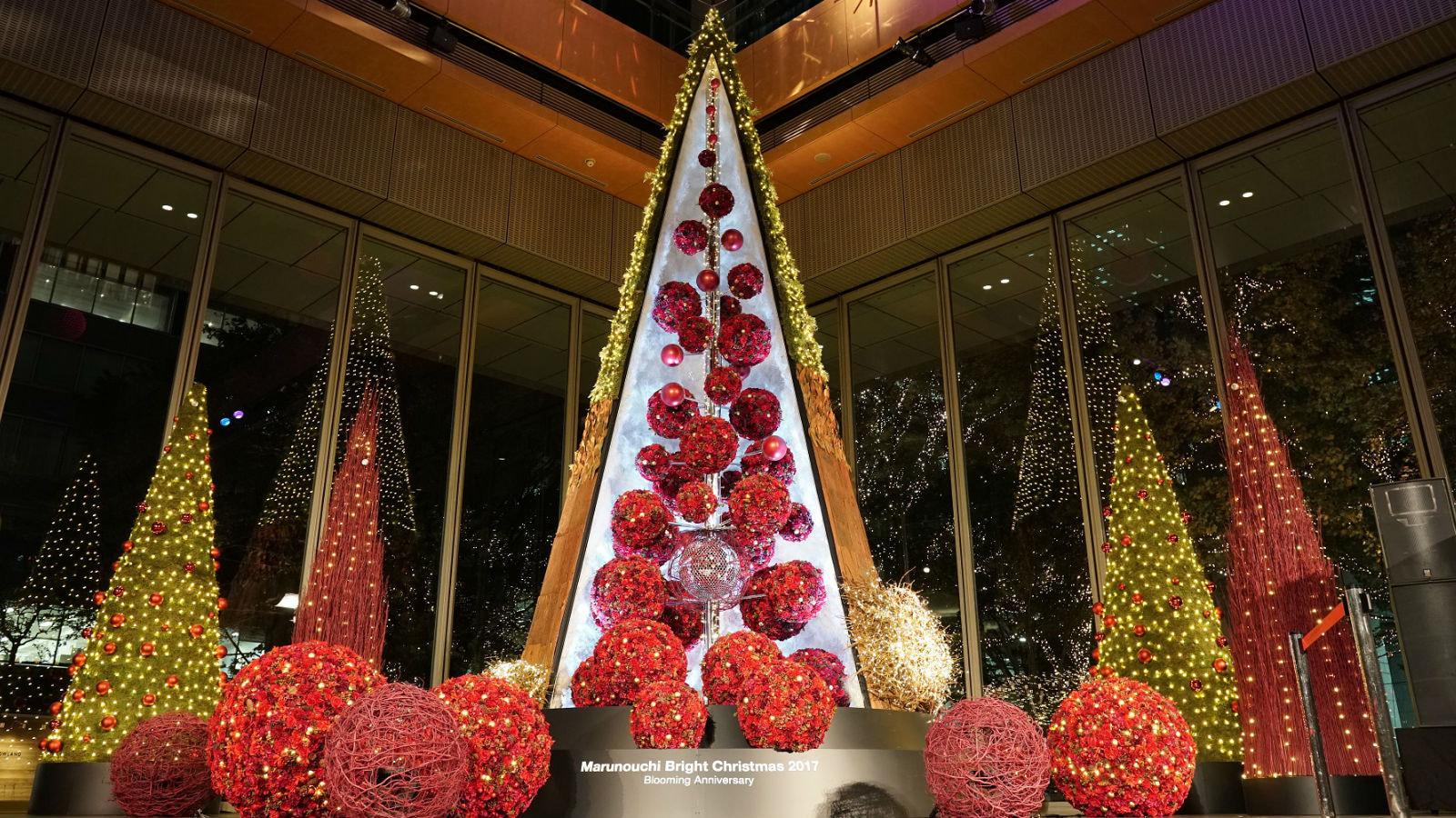 丸の内エリアで、光と花に満ちたクリスマスイベントを開催