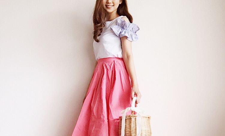 初夏にぴったりのガーリーファッション!さりげないフェミニン感でお出かけしよう