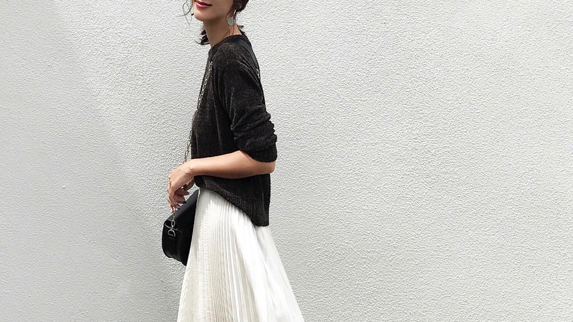 上品かつ大人女子の魅力を引きたてる!秋のAラインスカートコーデ集