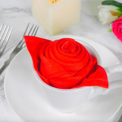 【DIY】もうすぐバレンタイン♡テーブルナプキンで彼をおもてなし【Vol.3 バラ編】