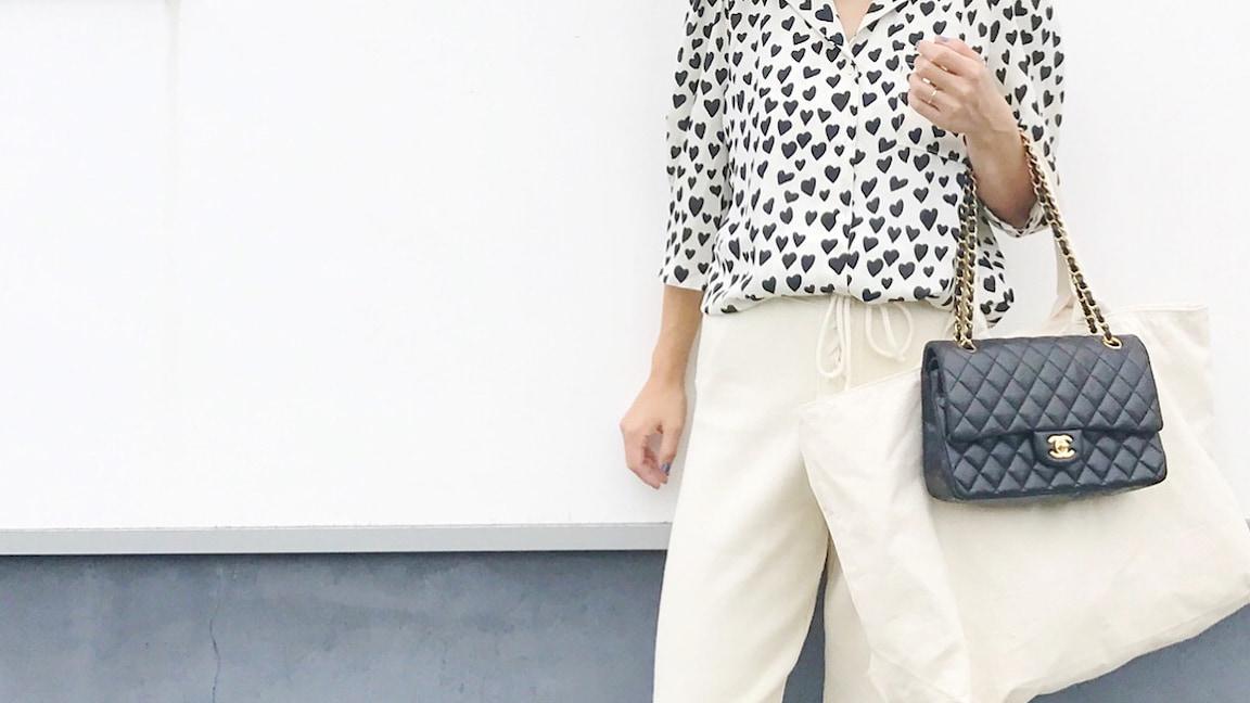 プチプラ全盛期の今だけどやっぱりバッグはブランド主義コーデ!