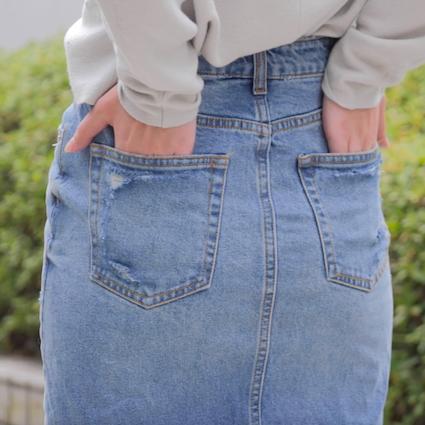 【DIY】クラッシュデニムDIY ポケットver.