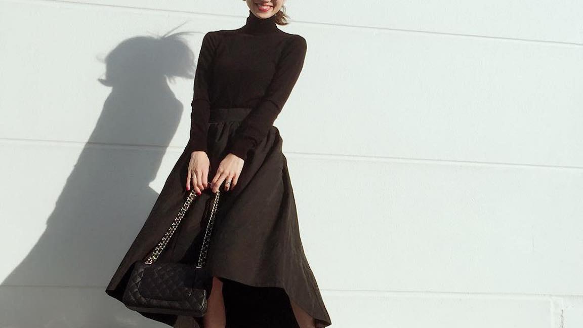 まだまだ使えるヘムスカート!上品可愛い秋コーデをつくろう