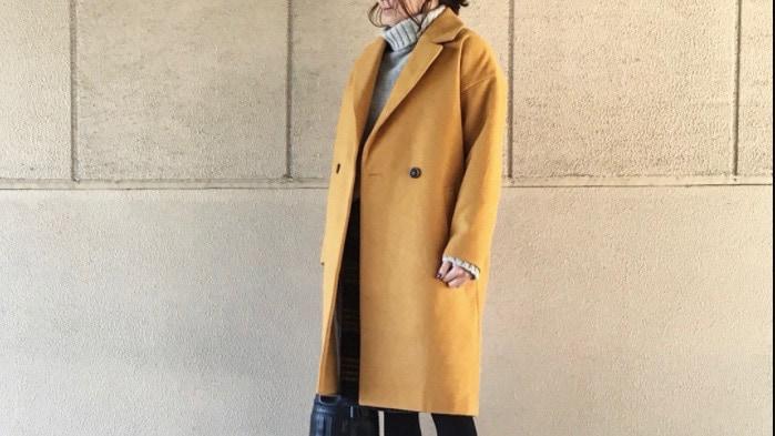 冬コーデに合わせやすい色、マスタードに夢中!
