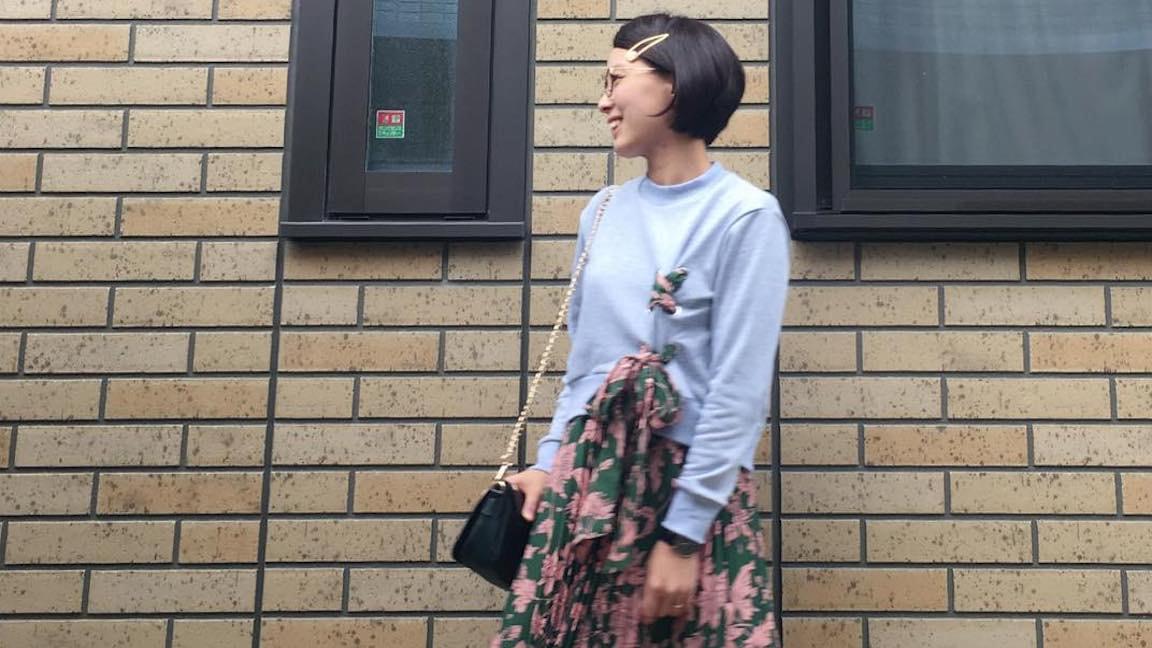 女っぽさアップ!ロング丈×Aラインシルエットで秋のさりげないオシャレ