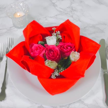 【DIY】もうすぐバレンタイン♡テーブルナプキンで彼をおもてなし【Vol.1 ハス編】