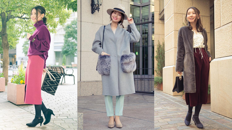 【カラー別】冬→春で使えるお役立ちパンプスコーデ集