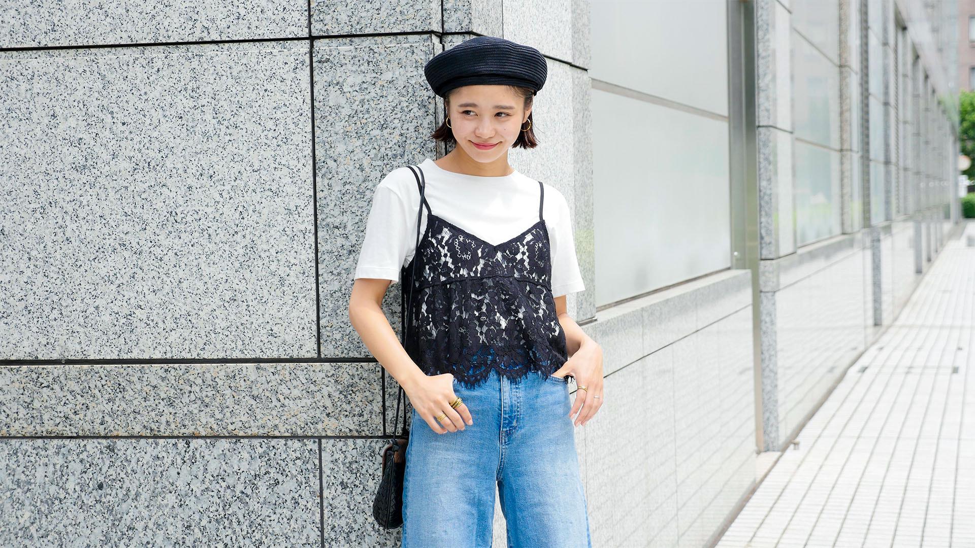 トレンドのキャミレイヤードトップス、カジュアルすぎない着こなしとは?【GUで着まわし!】