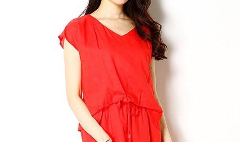 ホットな夏コーデはこれ一枚で仕上がる!赤ワンピースでサマーファッションを充実させる!