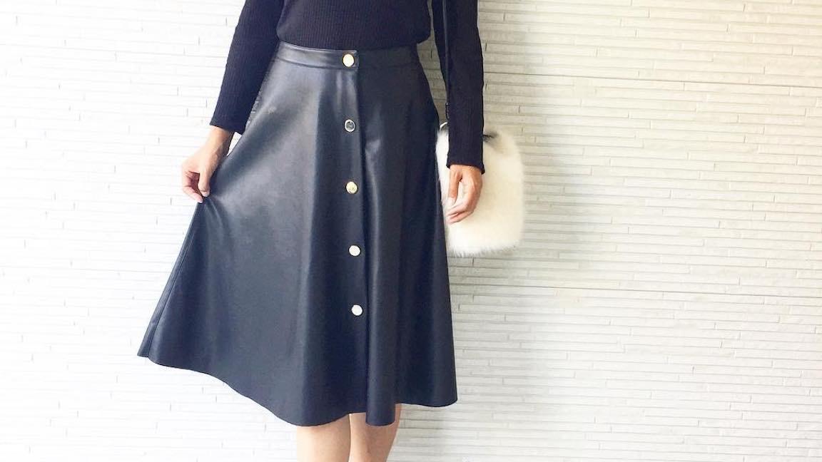 秋のいい女コーデはレザースカートで作る!真似したくなるおしゃれコーデまとめ