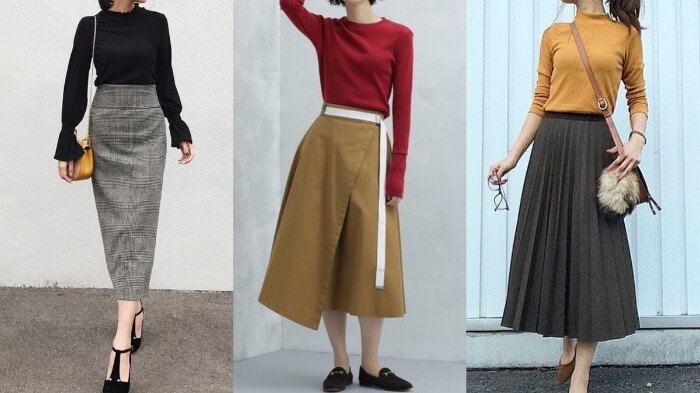 「ミモレ丈スカート」コーデで洗練されたレディへシフト!デザイン別31選