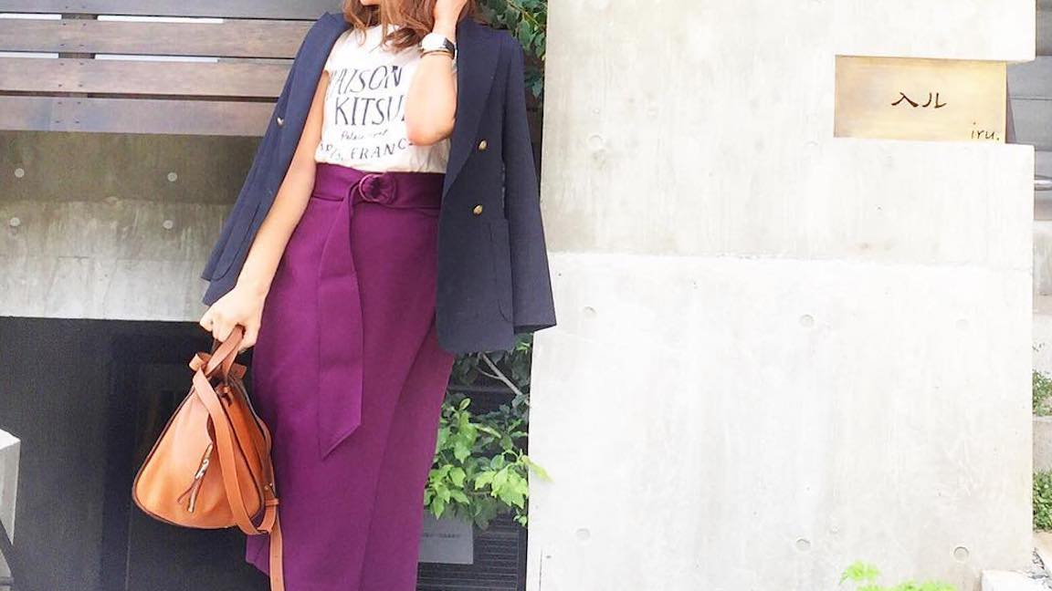 着やせ効果あり! Iライン×タイトスカートで作る大人かわいい秋スタイル