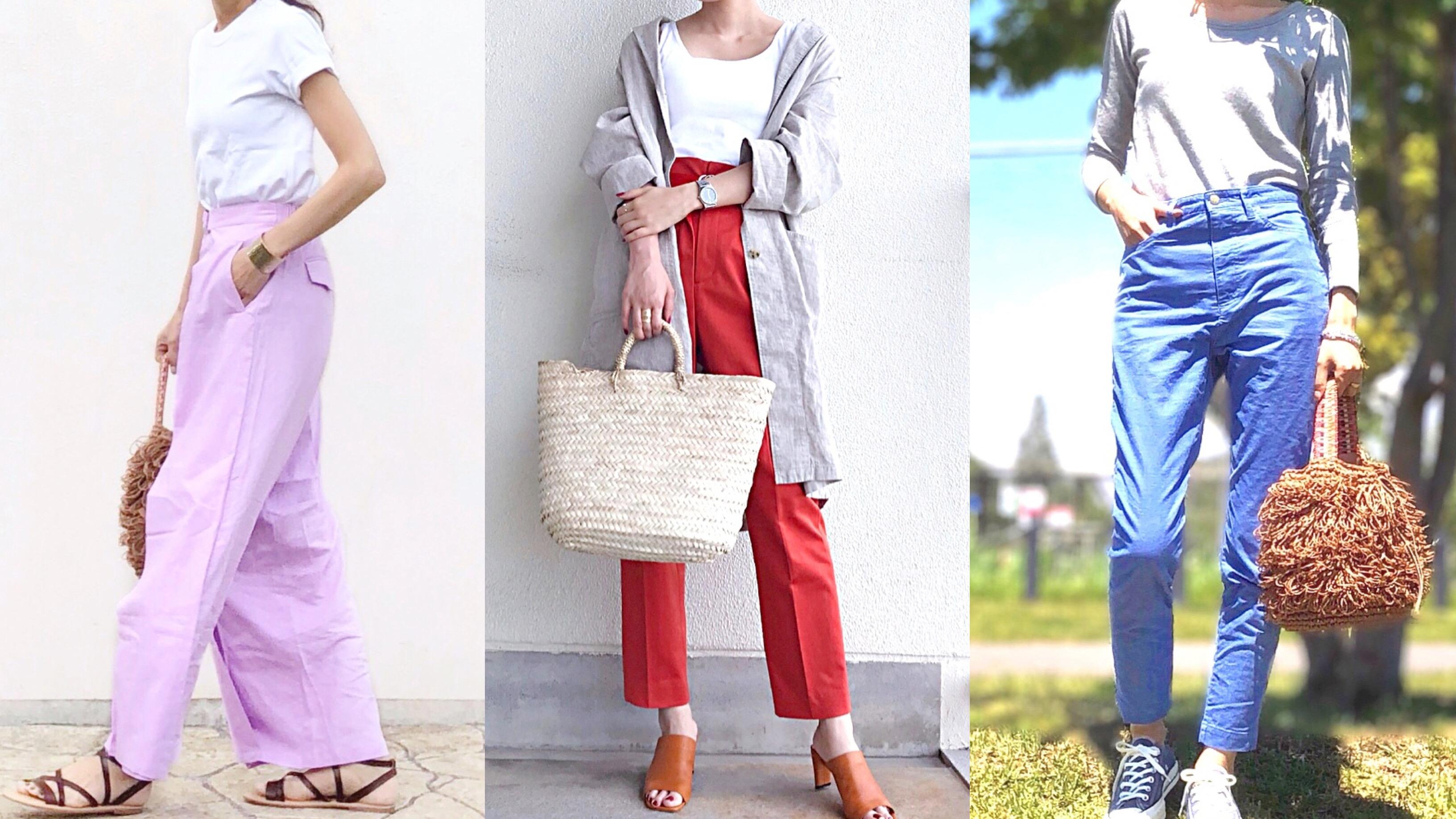 【MINESスナップ】アラサー女子の夏色は、パンツで格好良く叶えるのが正解