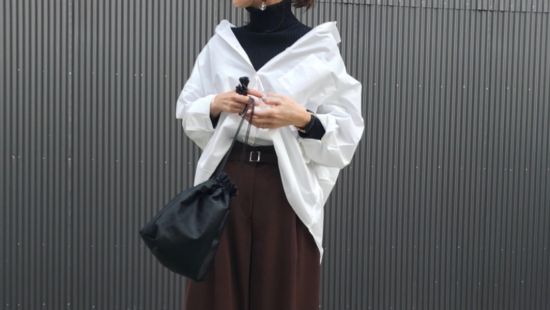 真冬でも楽しめる大人女子の白シャツ着回しコーデ術!