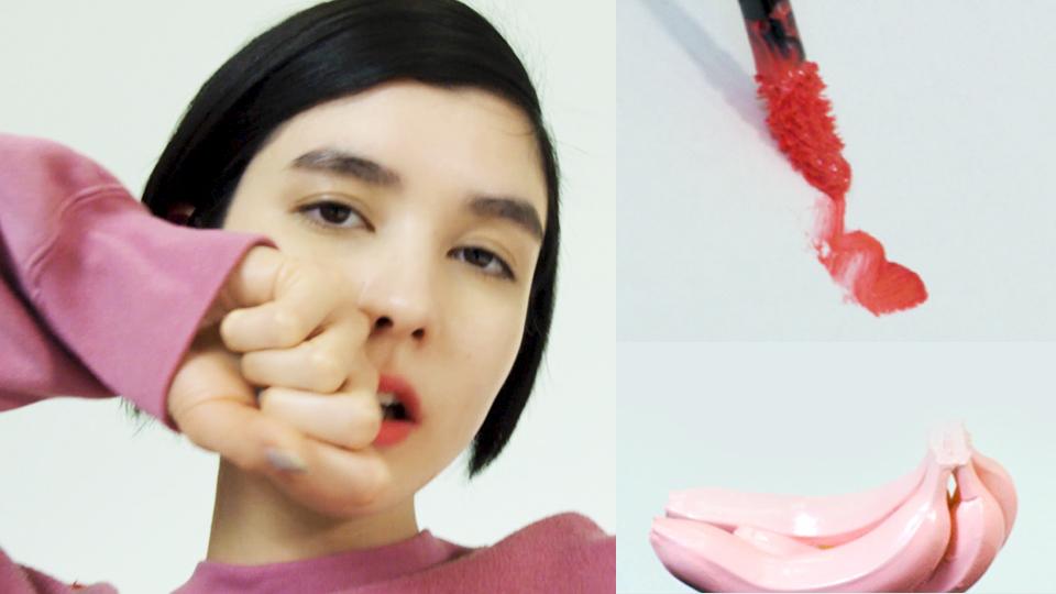 メンズライクなピンクには、どんなリップを合わせる?