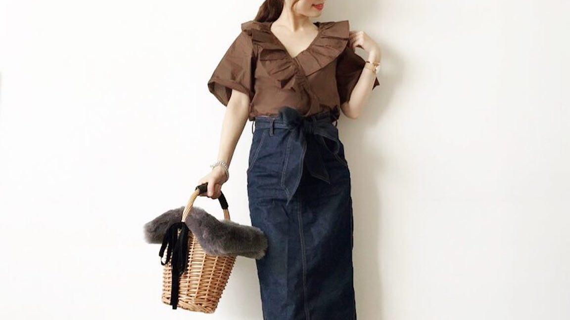 秋の大人カジュアルを楽しむなら、デニムスカートの着回し方にも注目!