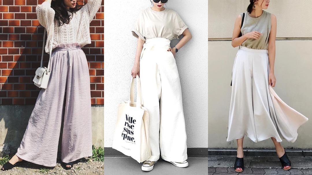 【MINESスナップ】白系ワイドパンツで優雅な夏女コーデに